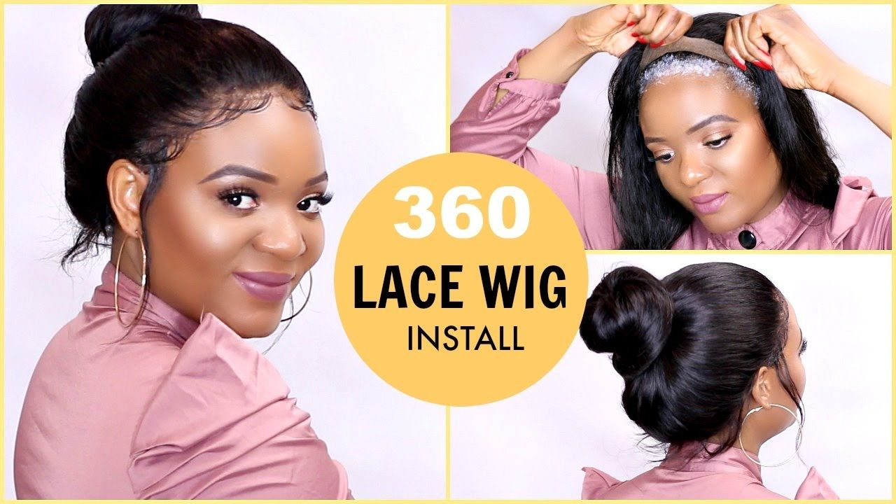 How to lay a 360 lace frontal wig glueless lace wig