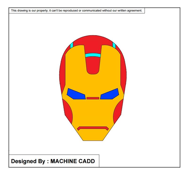 Iron Man Face Created In Autocad Iron Man Logo Iron Man Face Iron Man