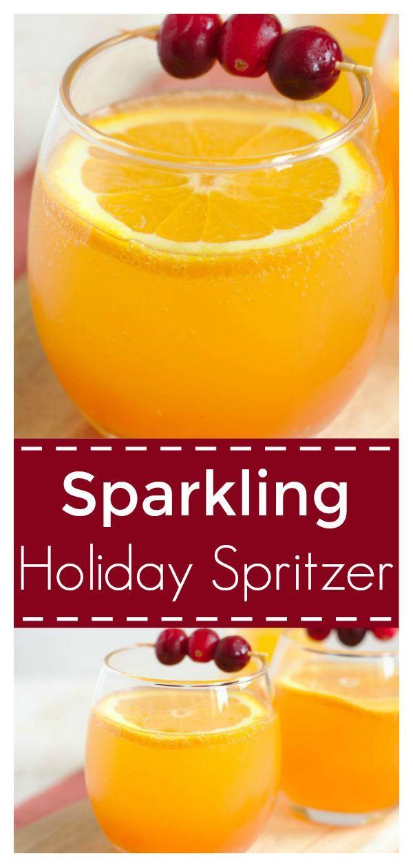 Sparkling Holiday Spritzer - Mildly Meandering #thanksgivingdrinksalcohol