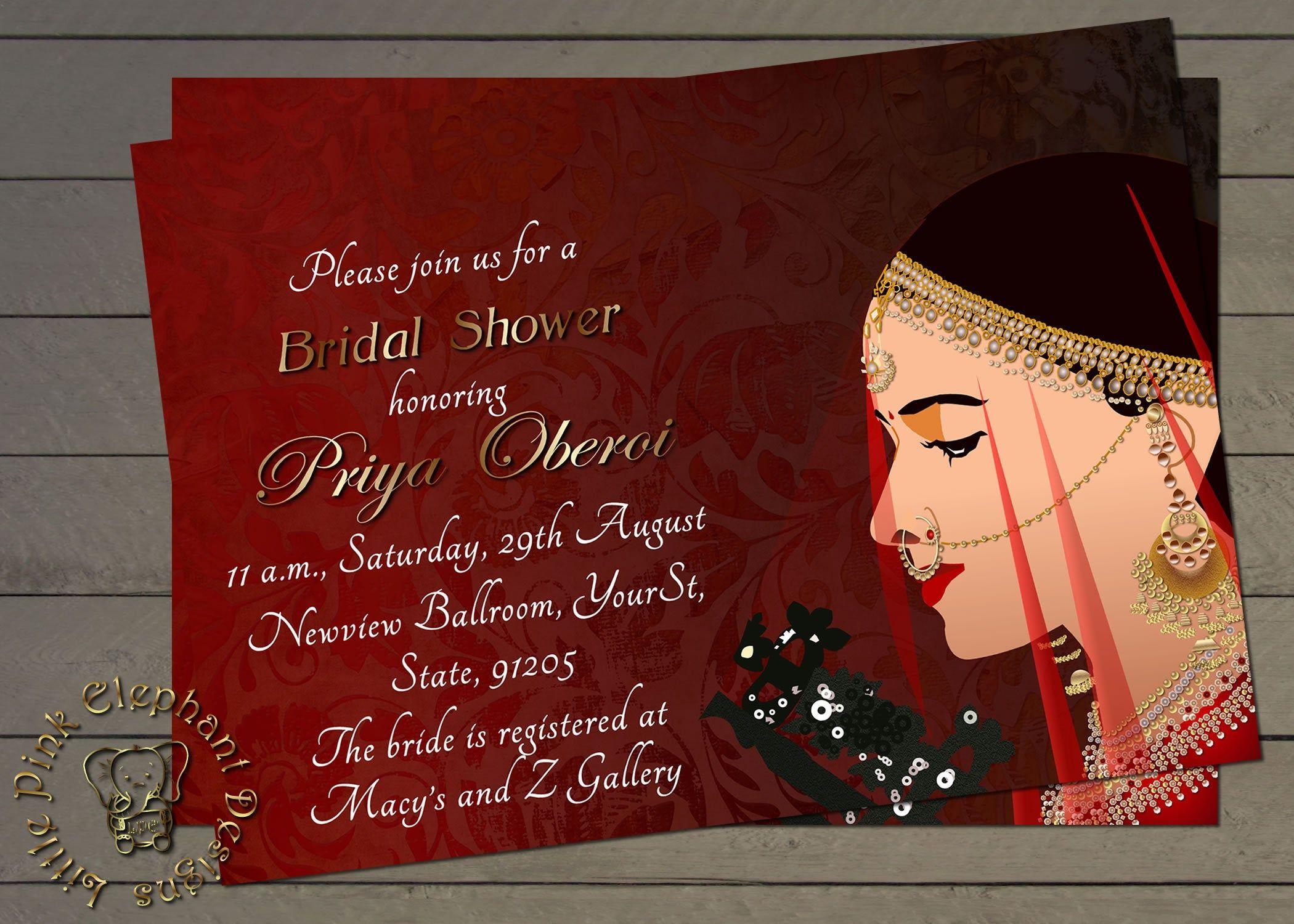 Dholki Invitation Mehndi Invitations Indian Invitations Bridal Shower Invitation Morocca Indian Invitations Indian Bridal Shower Engagement Invitations