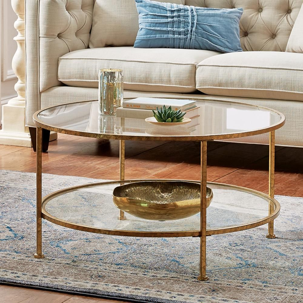 Home Decorators Collection Bella Aged Gold Coffee Table 9501200910 The Home Depot Gold Coffee Table Coffee Table Round Glass Coffee Table [ jpg ]