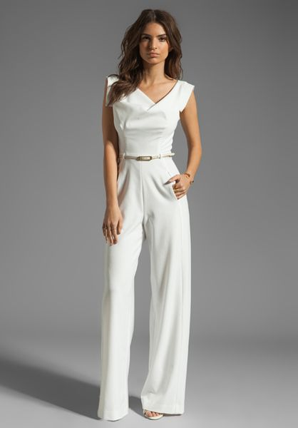 6a0819ff0e Black Halo Jackie Jumpsuit in White in White - Lyst