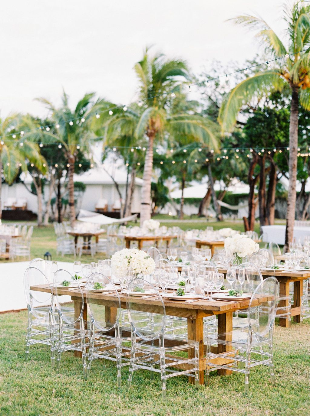 Wedding decor with ghost chairs  A Dreamy Destination Wedding in The Bahamas  Destination wedding