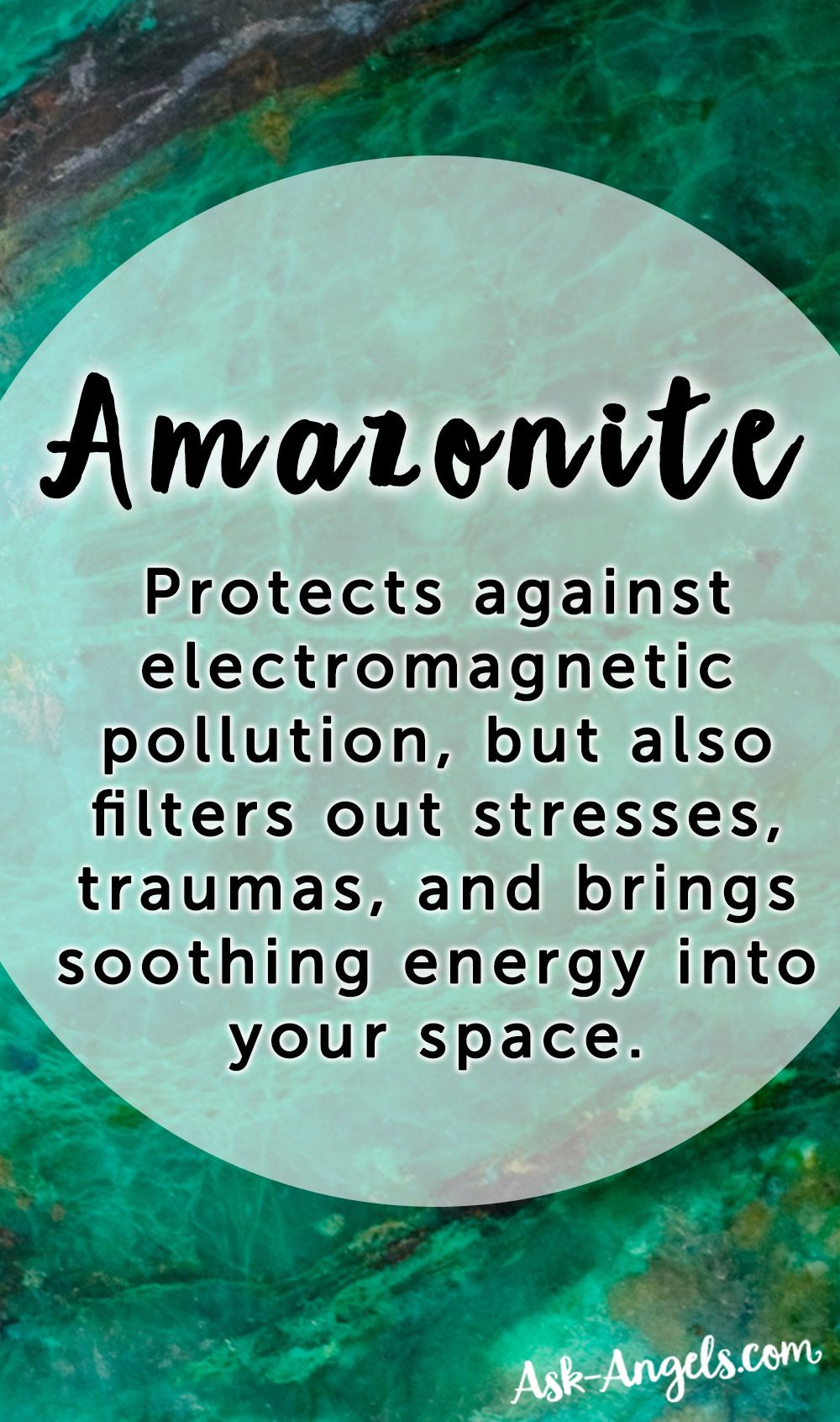 Amazonite's subtle vibrations not only protect against electromagnetic pollution, but also filter out stresses, traumas, and brings soothing energy into your space.