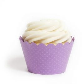 Emma Orchid Purple Cupcake Wrappers BULK (12 Wraps) #Cupcake #Wrappers & #Liners