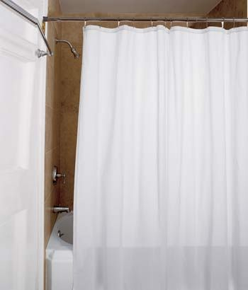 Vertical Striping On Our Striped Semi Sheer Shower Curtain Creates