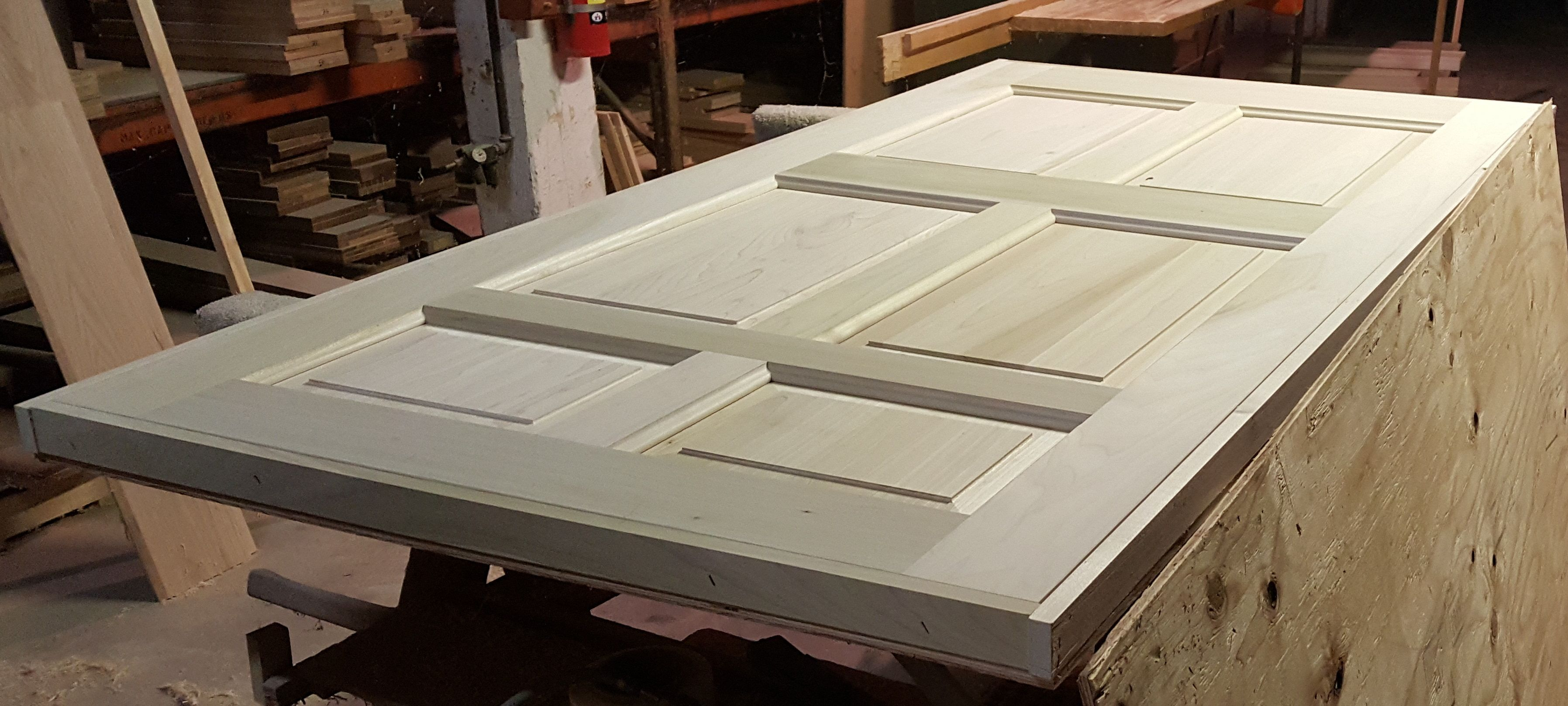 This Standard 6 Panel Raised Panel Door In Poplar 1 3 4 Thick 40 X 80 Is Being Packaged And Will Be Raised Panel Doors Closet Door Hardware Pocket Doors