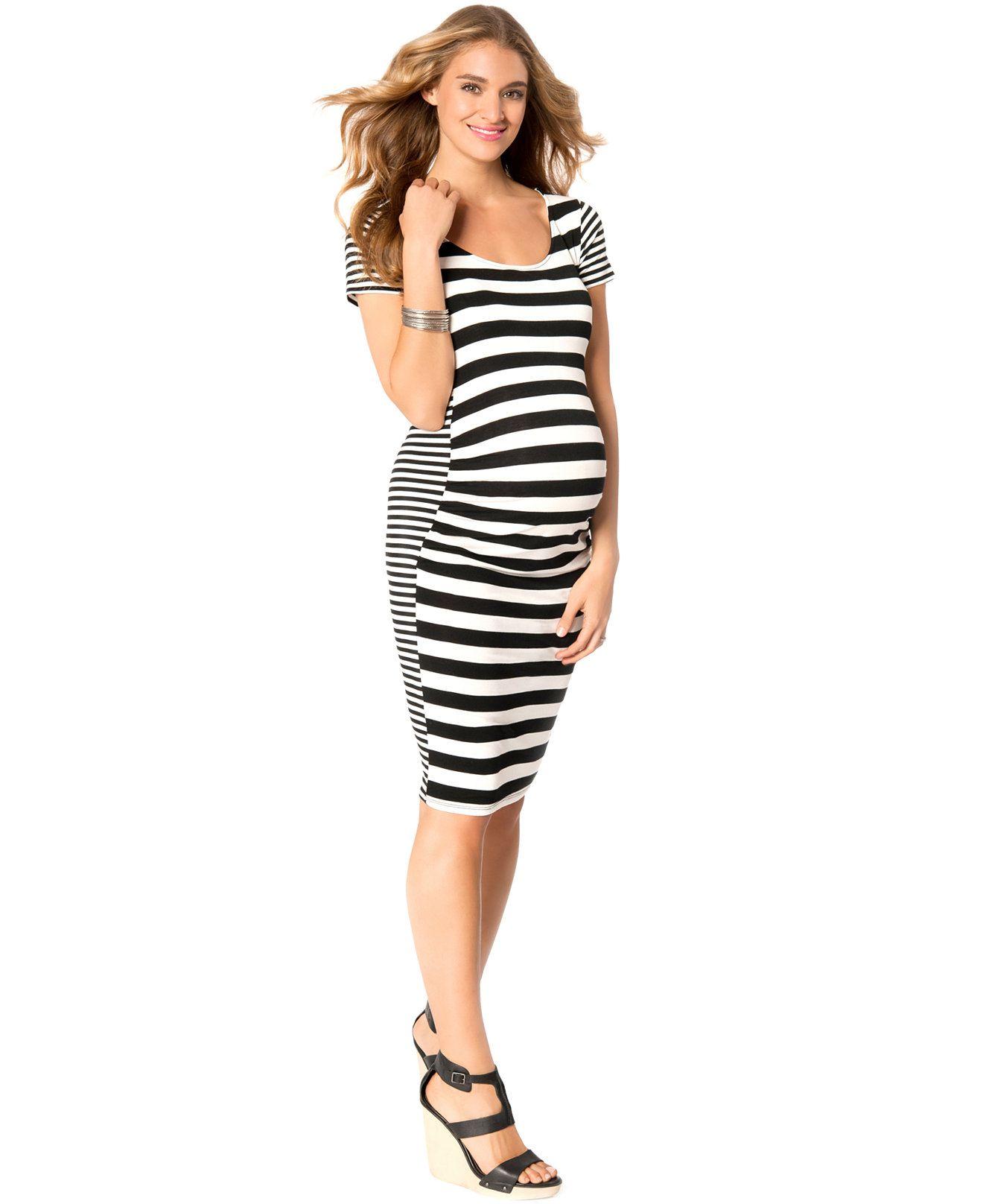 ee87dcca1 Jessica Simpson Maternity Striped Bodycon Dress - Maternity - Women - Macy s