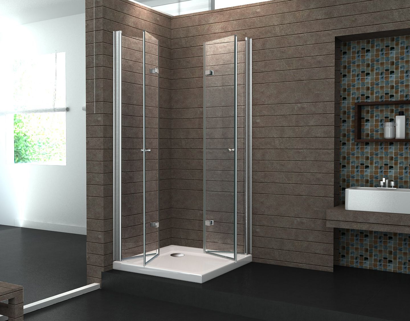 Viertelkreis Duschkabine Eckeinstieg Dusche