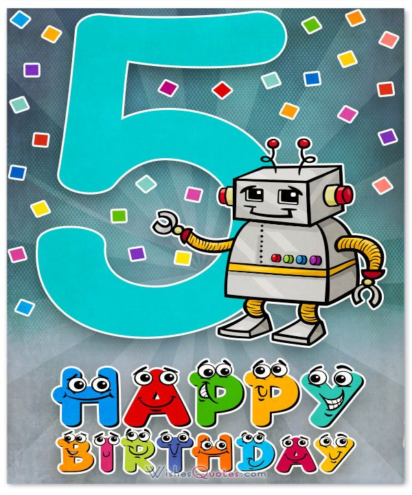 Happy 5th Birthday Wishes For 5 Year Old Boy Or Girl Birthday Wishes For Kids Happy 5th Birthday Old Birthday Cards