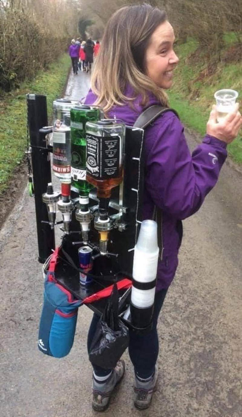 Girl Drinking Alone Meme