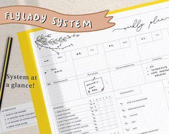 Complete FlyLady System at a Glance FlyLady Cleaning | Etsy