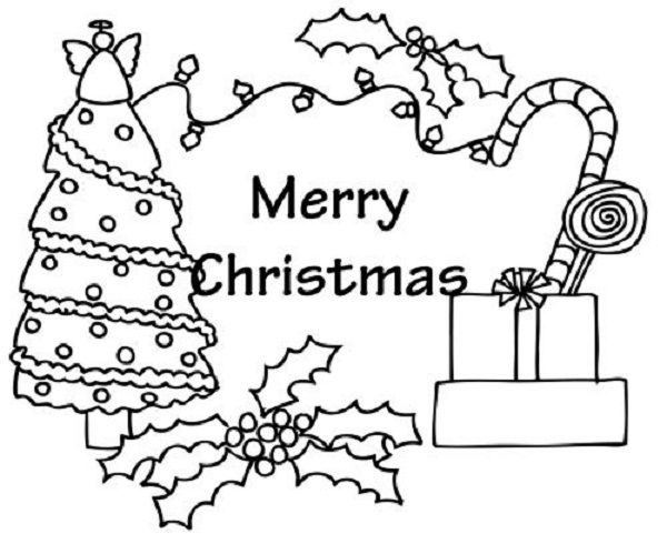 Christmas Coloring Page Card