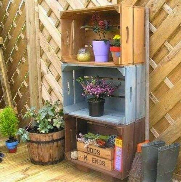 original recycling ideas old crates diy patio furniture ideas wooden garden fence - Garden Furniture Crates