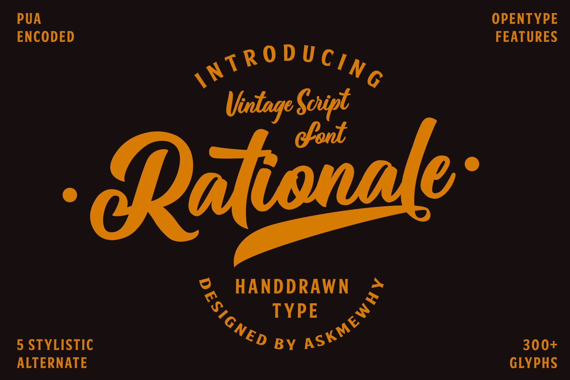Rationale Vintage Script Font 366948 Script Font Bundles Vintage Script Fonts Vintage Fonts Script