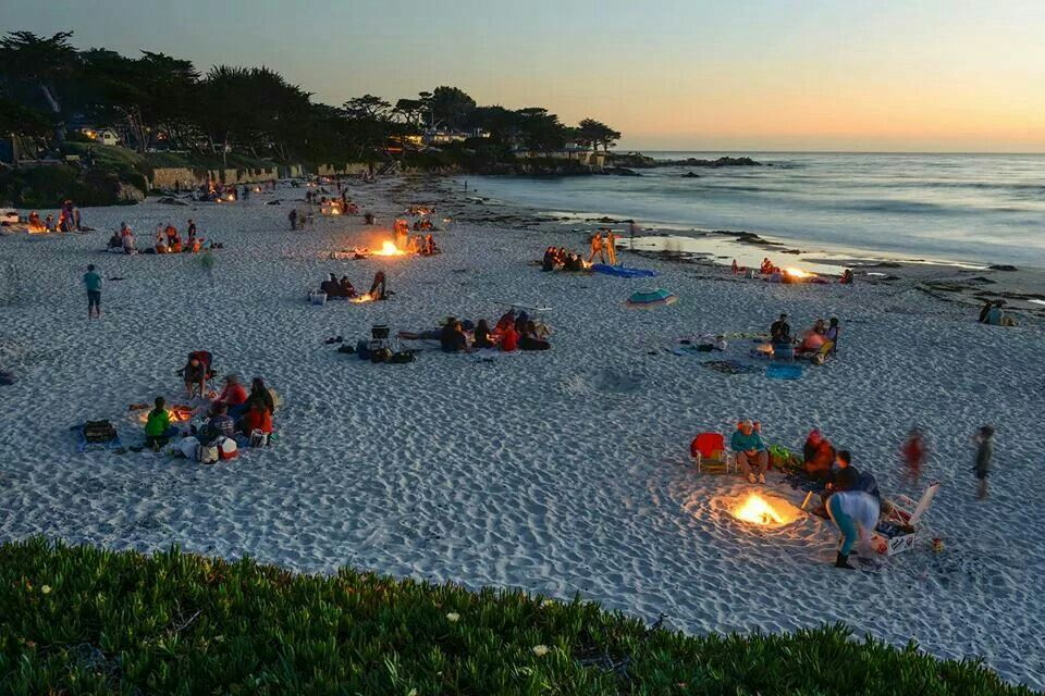 Bonfires in Carmel, CA <3
