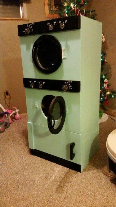 play diy washer dryer combo clothes hamper indoor playhouse building pinterest. Black Bedroom Furniture Sets. Home Design Ideas