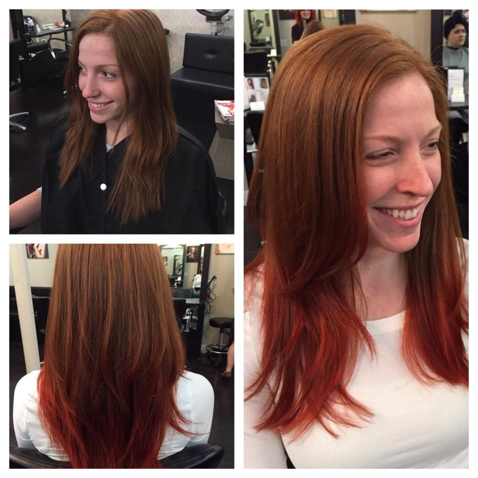 Red Balayage By Emily Goodwin At The Viselli Salon In Boston Ma Call 857 350 4856 For Info Www Vs Salon Com Red Balayage Long Hair Styles Hair Makeup