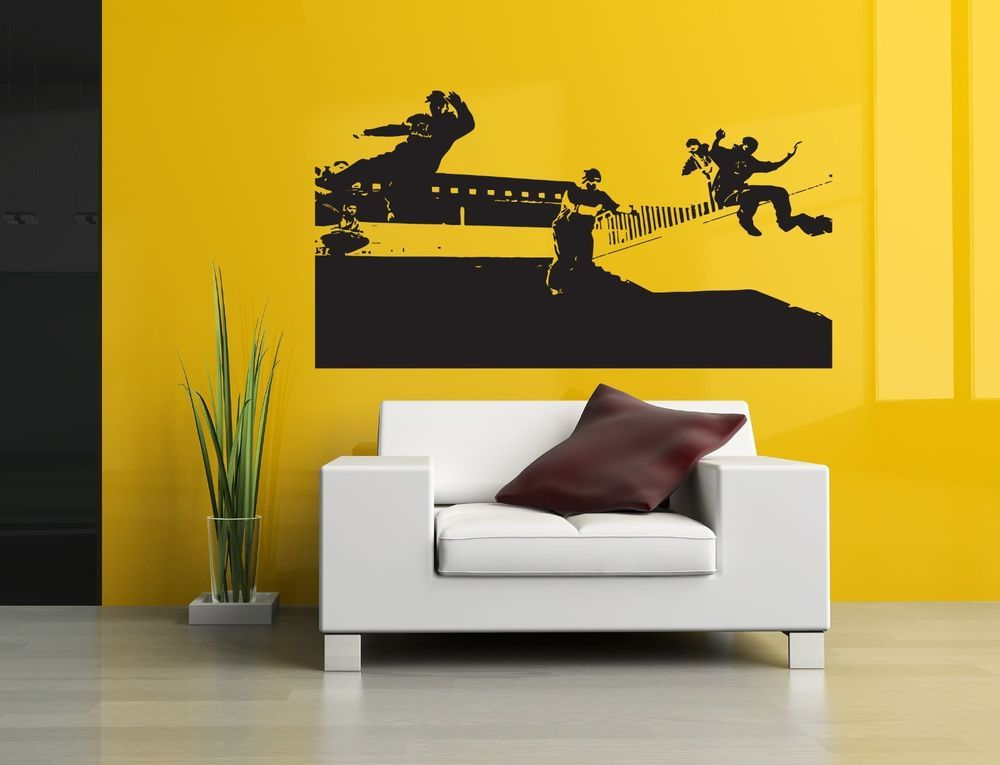 Wall Decor Art Vinyl Sticker Room Decal Beautiful People Parkour ...