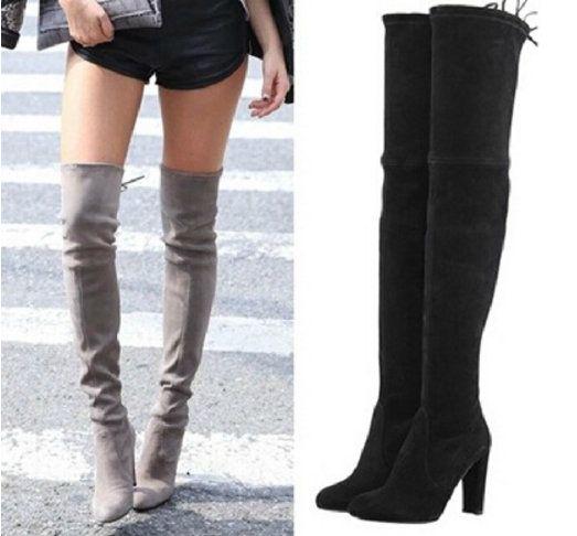 dames zwart thigh laarzen