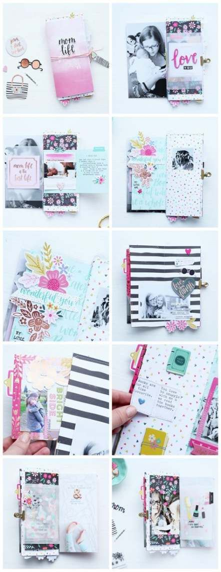 Travel Journal Diy Travelers Notebook Mini Albums 34