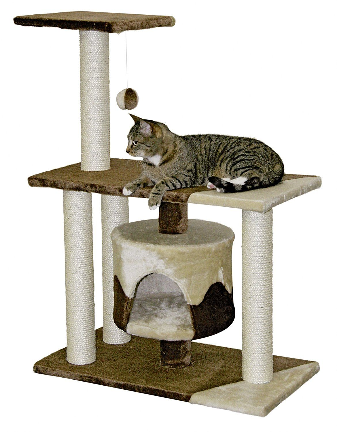 Cat Tree With Sisal Posts Cat tree, Cat scratching post