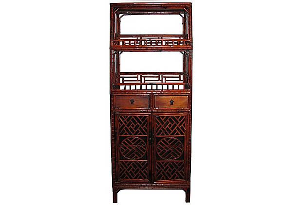 chinese fretwork cabinet