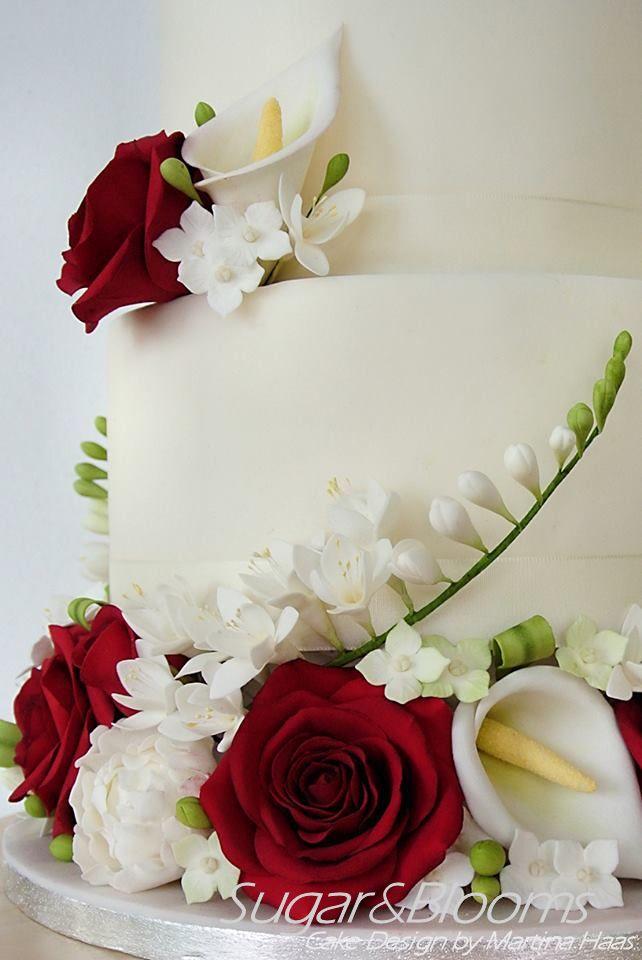 3 tiered wedding cake with handmade sugar roses sugar freesia sugar callas hydrangeas. Black Bedroom Furniture Sets. Home Design Ideas