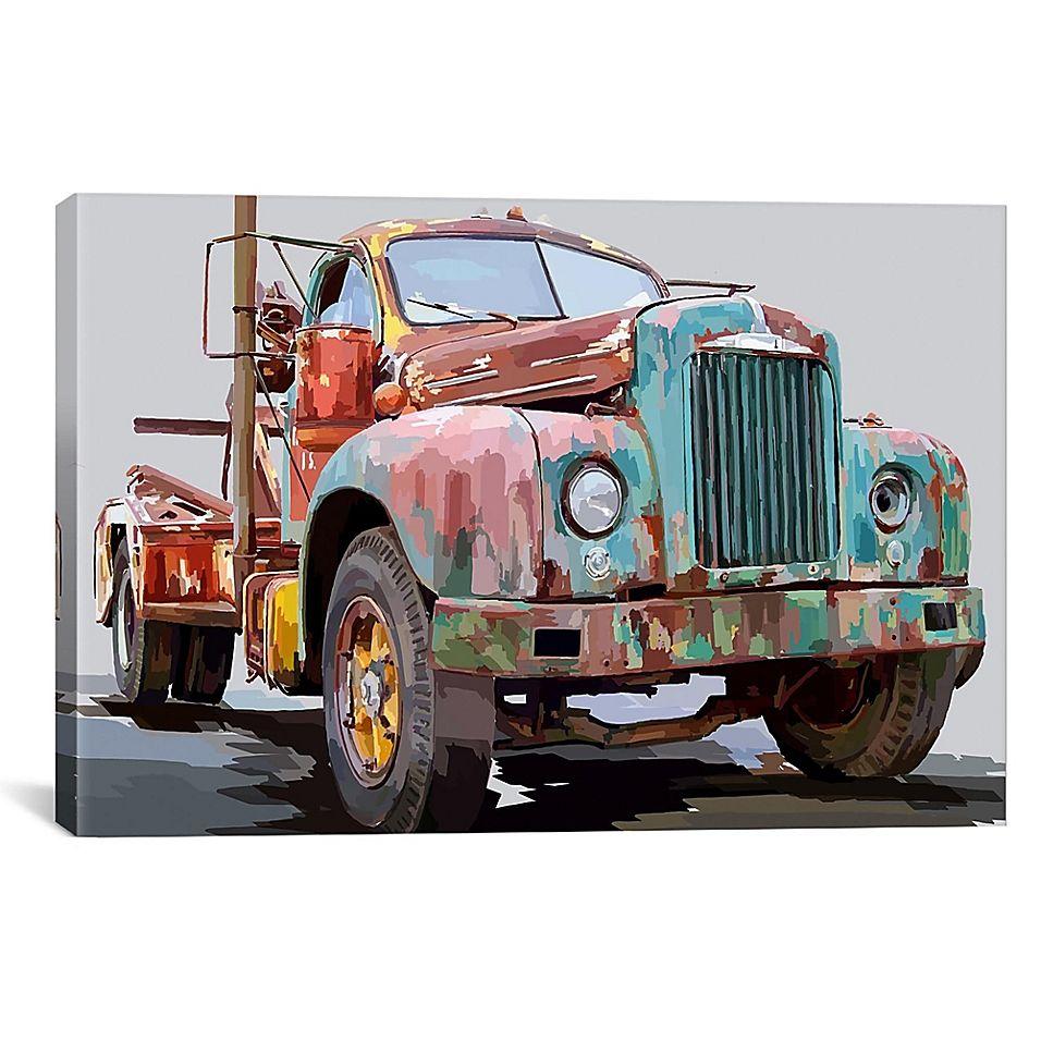 icanvas truck i 18 x 26 canvas wall art multi classic on icanvas wall art id=50760