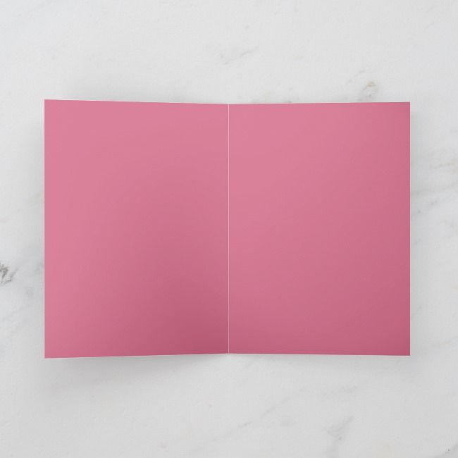 Customizable Pink Heart Art Blank Greeting Card