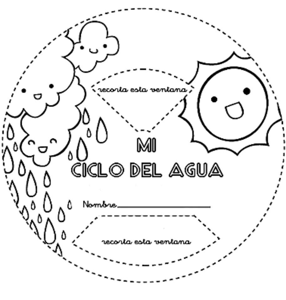 Magnifico Cuaderno Interactivo Ciclo del Agua | School, Kids science ...