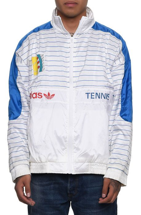 OCD Cleaners Das adidas ATP Tennis Team Windbreaker in Weiß Multi