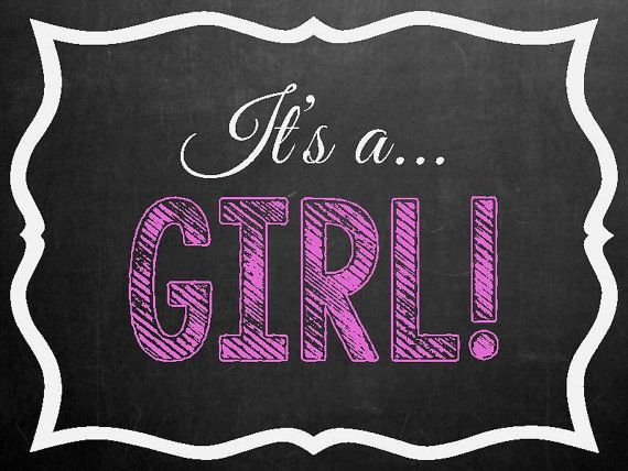Its a Boy or Its A Girl Announcement Digital by MMasonDesigns – How to Announce Baby Girl