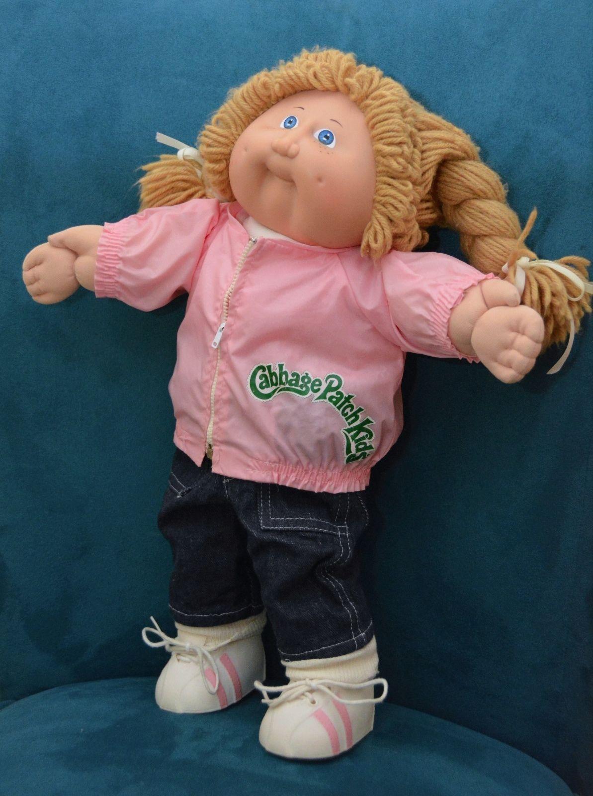 Vintage 83 Cabbage Patch Kid Girl W Sandy Blonde Braids Blue Eyes Freckles Cabbage Patch Kids Cabbage Patch Babies Cabbage Patch Dolls