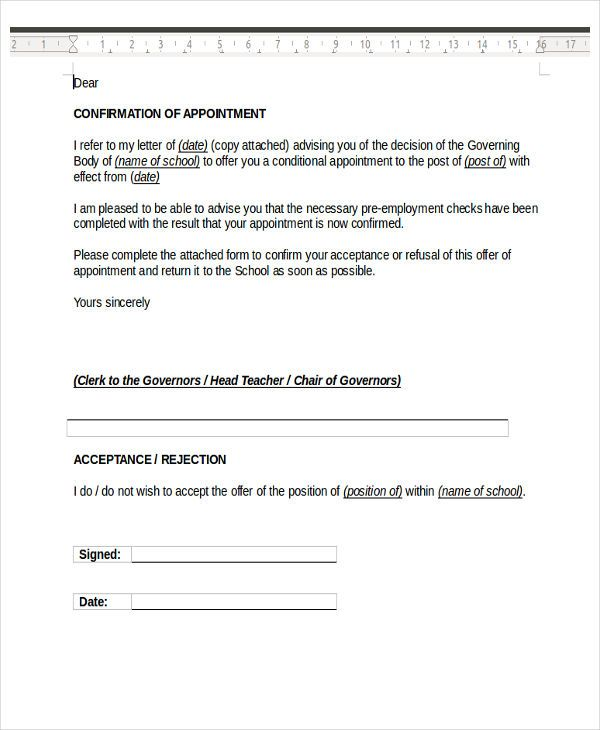 appointment letter templates doc free amp premium template examples - best of appointment letter format doc download