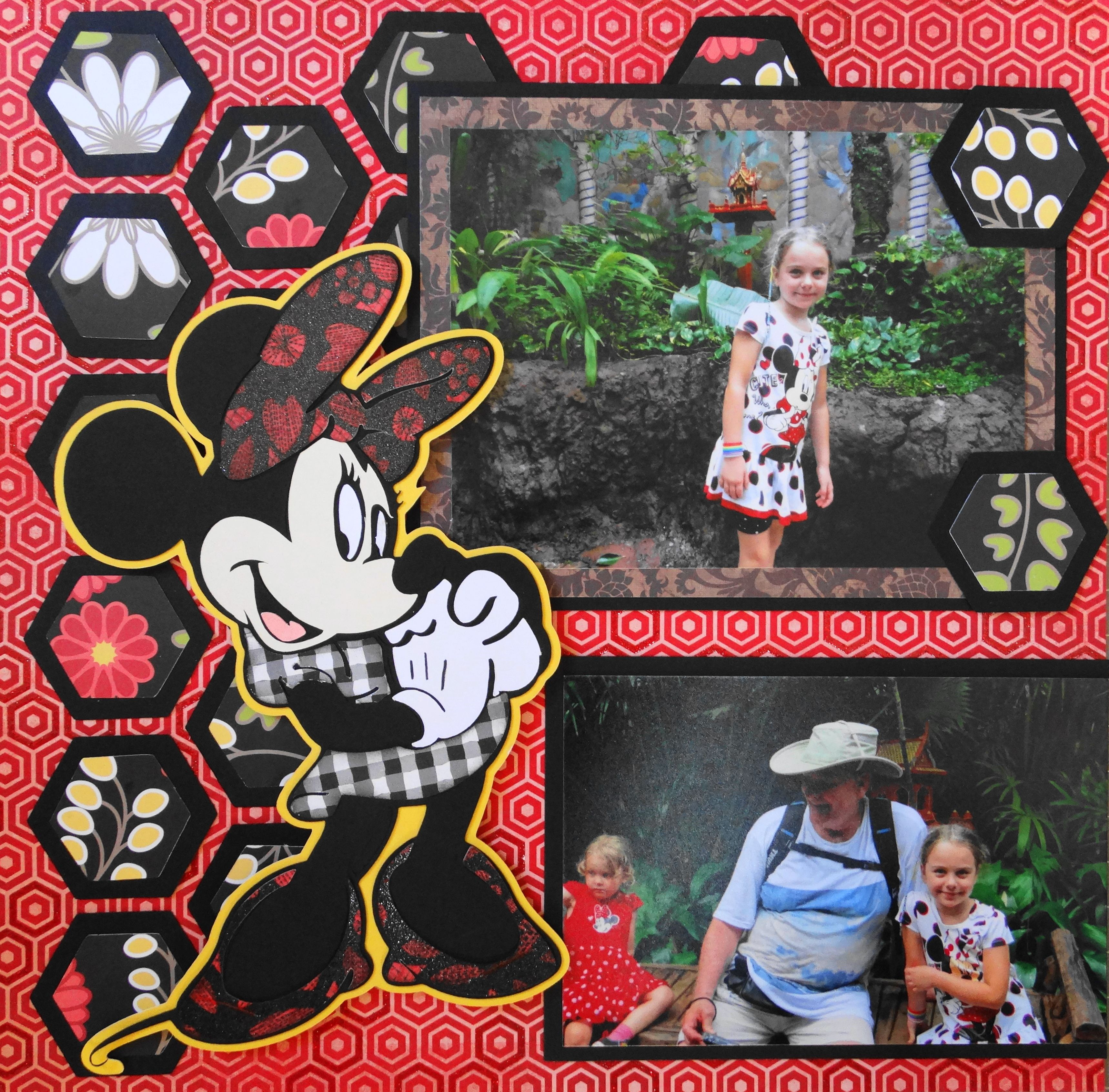 Minnie Mouse Scrapbook Page For Animal Kingdom A Layout Idea Of The