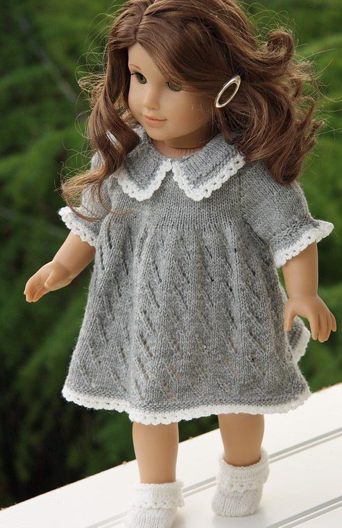 Knitting patterns for dolls clothes-simple, timeless elegance in ...