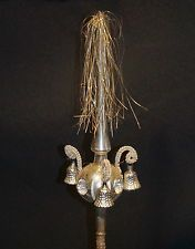 Antique wire wrapped mercury glass tree topper - Germany  (# 5369)