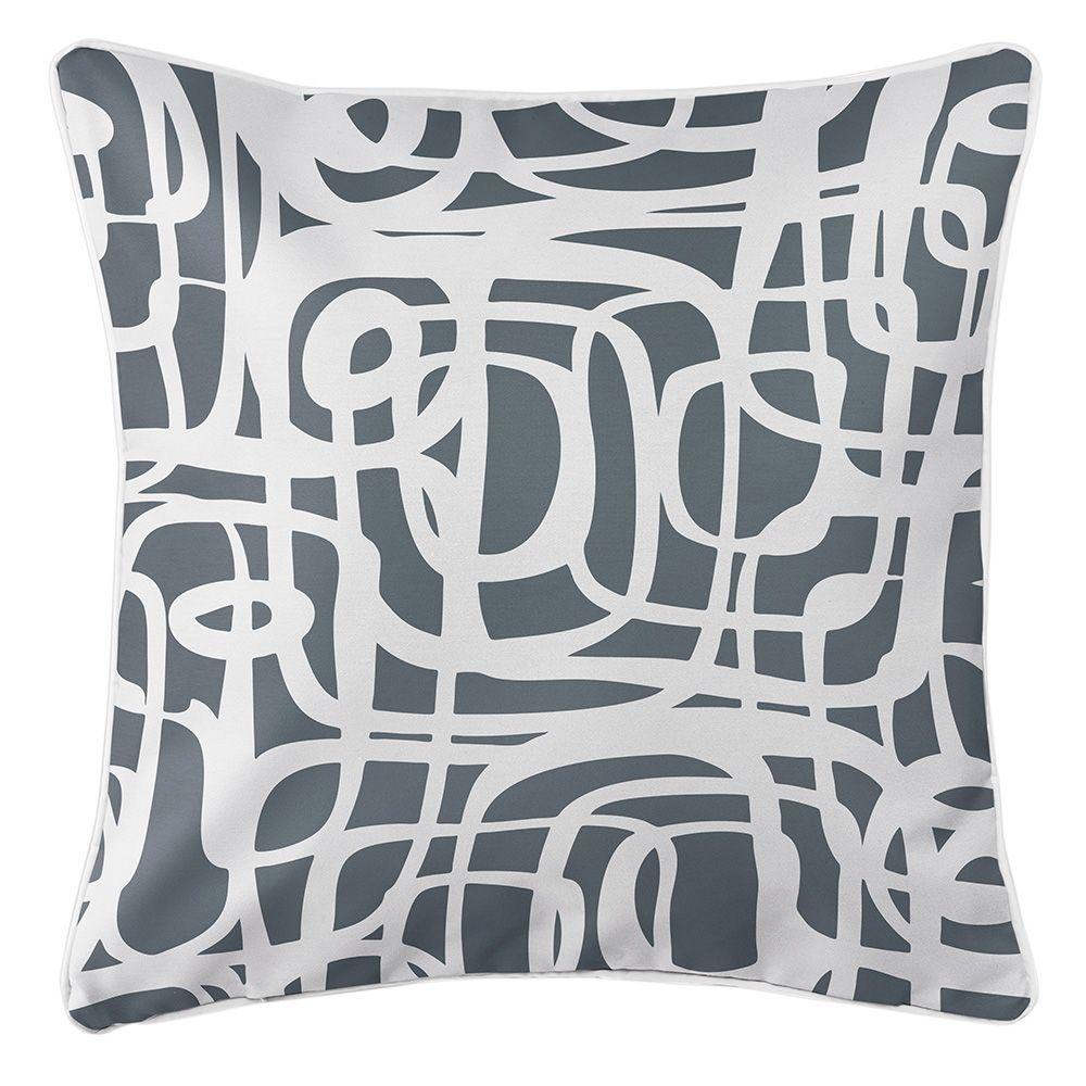 Tahiti Gray Pillow Throw Pillows Tropical Pillows Pillows
