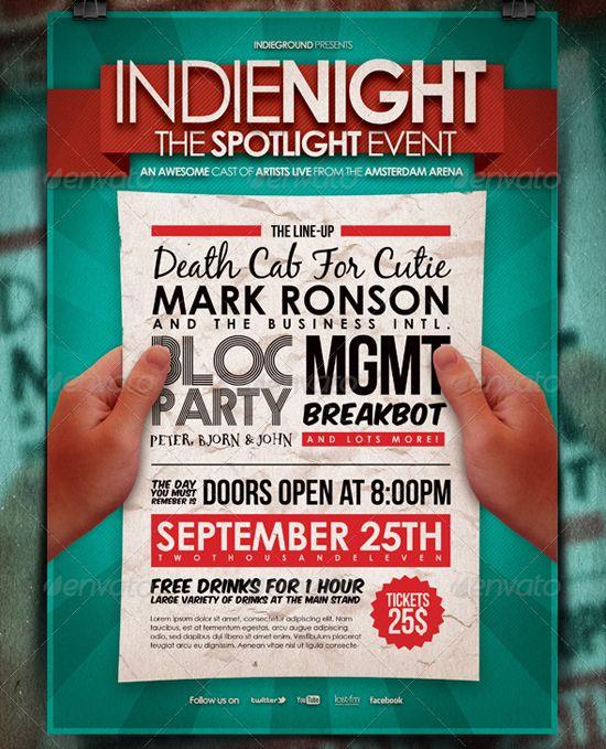 IndieFlyerPosterTemplate  D    Flyer Template