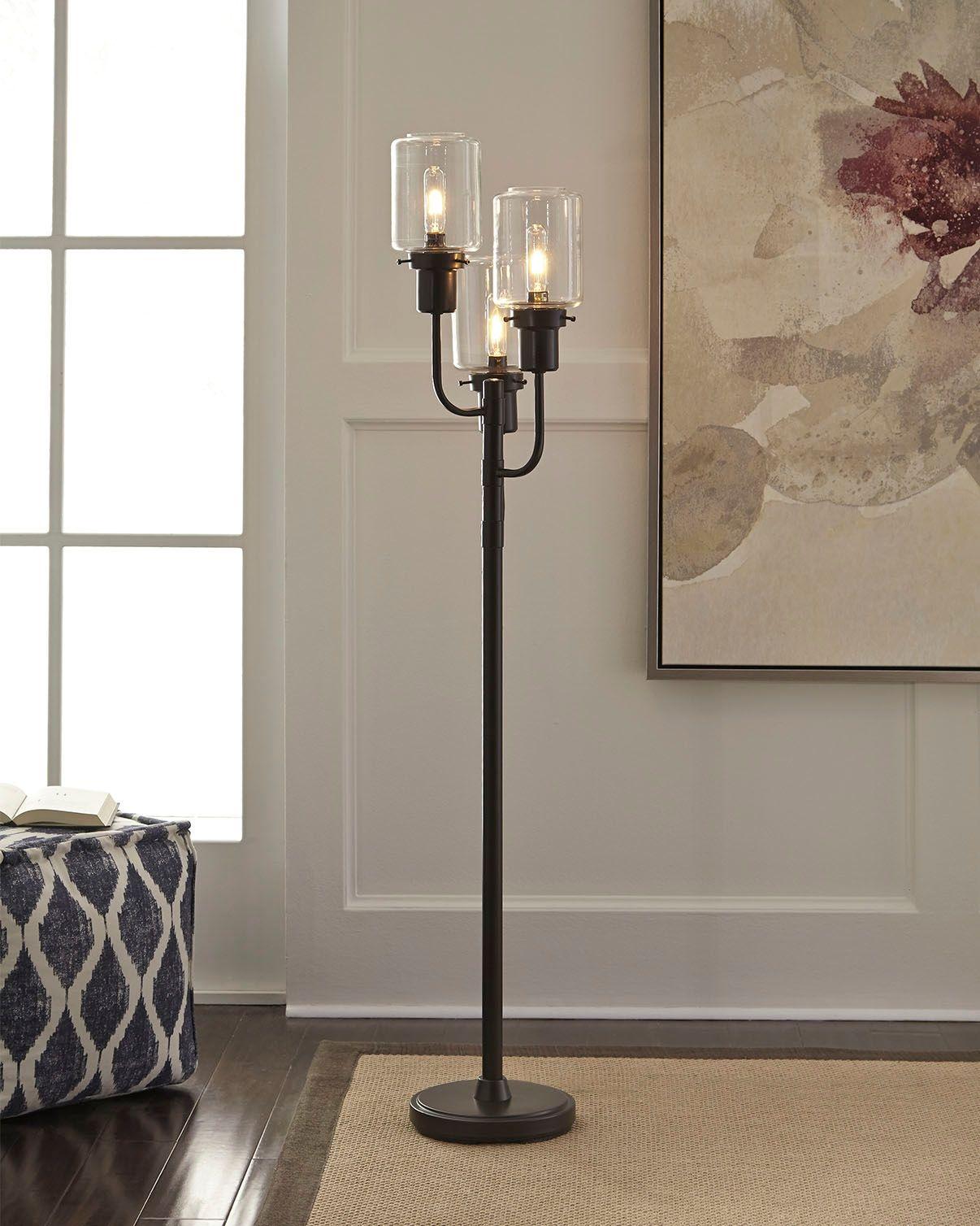Jaak Floor Lamp Bronze Finish
