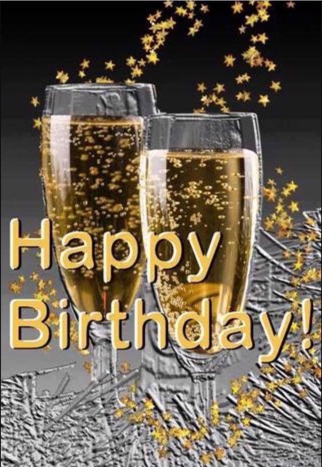 verjaardag man champagne