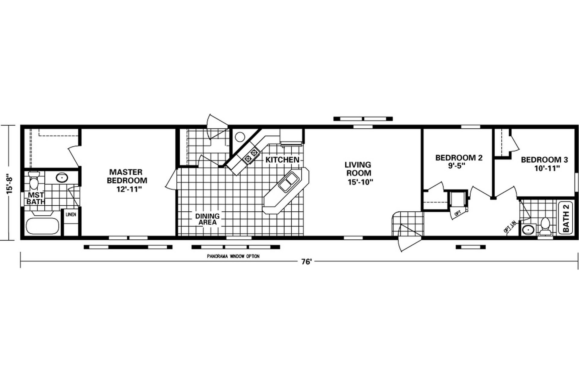 16 X 80 Mobile Home Floor Plans | Floor Plans in 2019 | Mobile home  Chandaluer Bdrm Bath Double Wide Mobile Home on