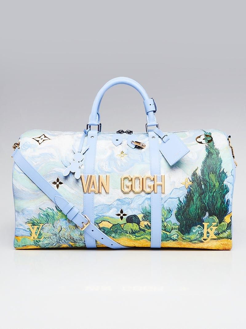 21d2ff5410d0 Louis Vuitton Limited Edition Coated Canvas Jeff Koons Van Gogh Keepall 50  Bandouliere Bag - Yoogi s Closet