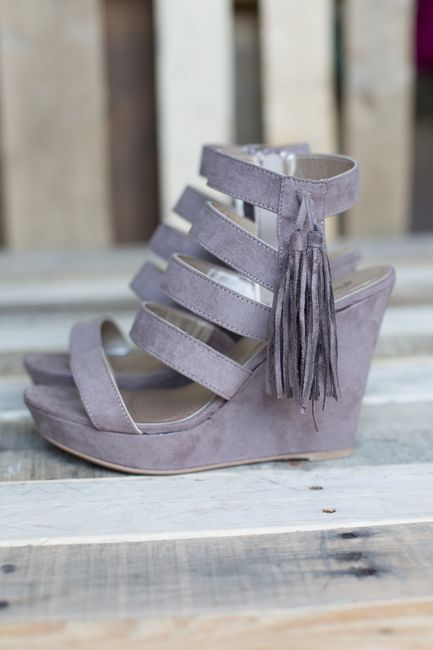 Shop our Faux Suede Tassel Wedges. Always free shipping on US orders $50 & up!
