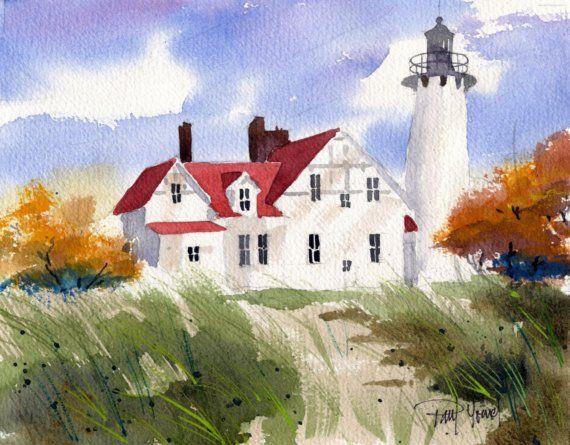 Iroquois Light HousePrint por artworm en Etsy, $17.50