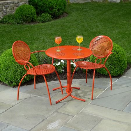 Margarita Bistro Chair In Blood Orange Retro Patio