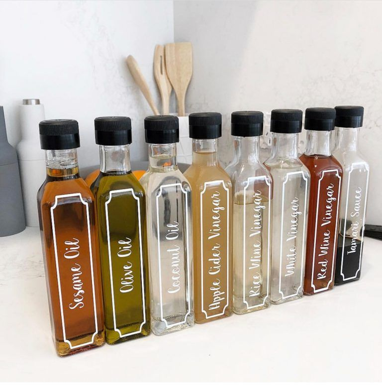 labelled oil and vinegar bottles in 2019 kitchen organization pantry pantry organisation on kitchen organization oil and vinegar id=93478