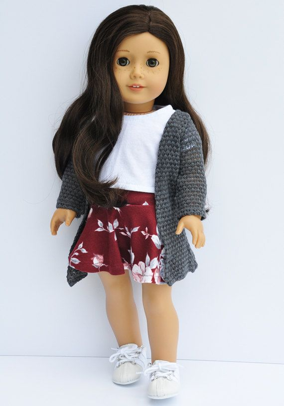 girl doll clothes cardigan wrap sweater by