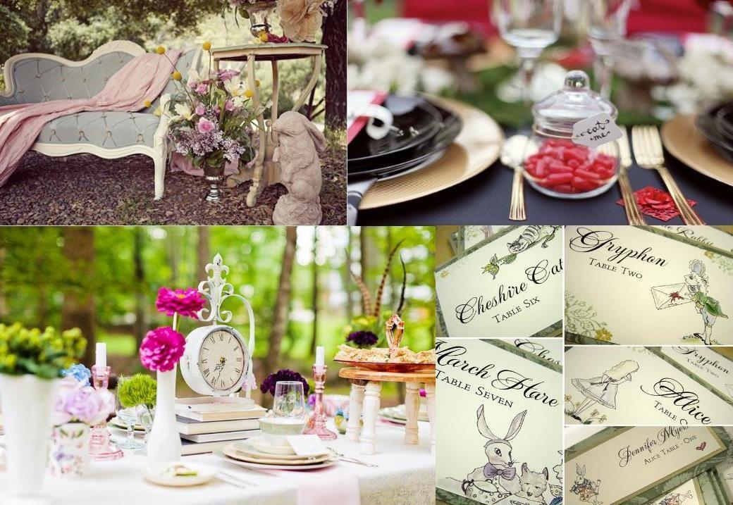 alice in wonderlang wedding decoration 21 fairytale wedding photo